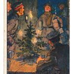 8) Kakao Stollwerck – Figurina Natale in trincea (misure 5x9).